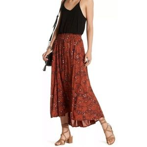 Melrose And Market Hi Low Maxi Skirt Rust Copper